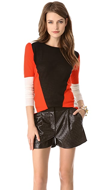 Joseph Colorblock Cashmere Sweater