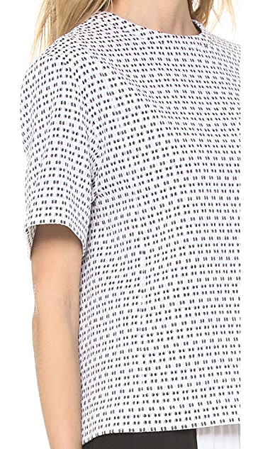 Joseph Lou Optic Jacquard Top