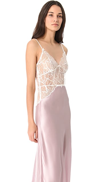 Jenny Packham Lace & Silk Nightgown