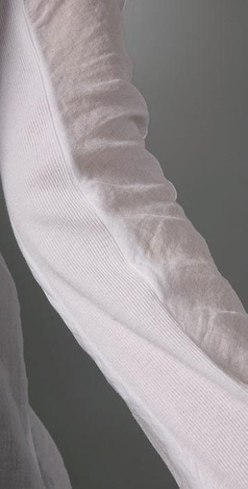 James Perse Rib Panel Dolman Shirt