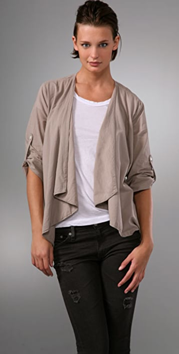 James Perse Open Drape Shirt