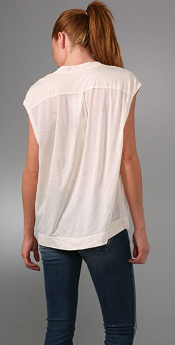 James Perse Button Front Boxy Shirt