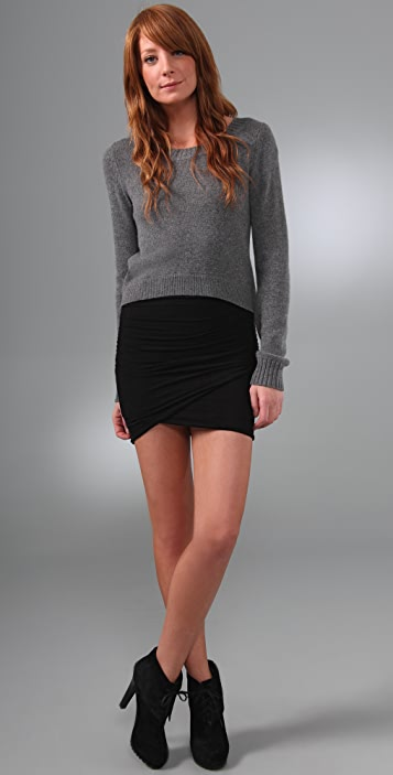 James Perse Twisted Wrap Miniskirt