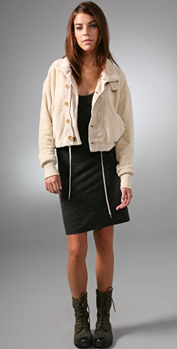James Perse Cropped Funnel Jacket