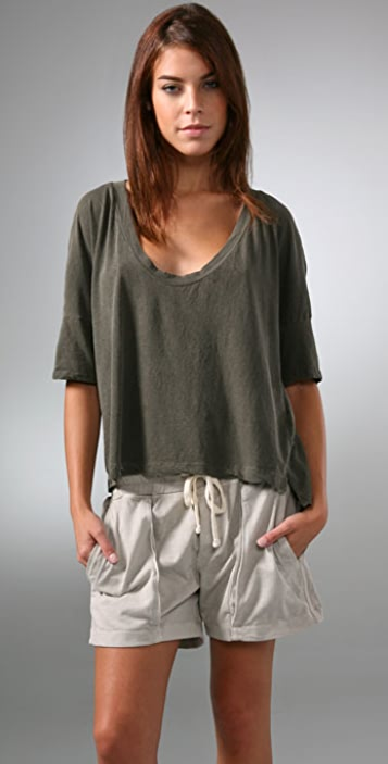 James Perse Cropped Tee