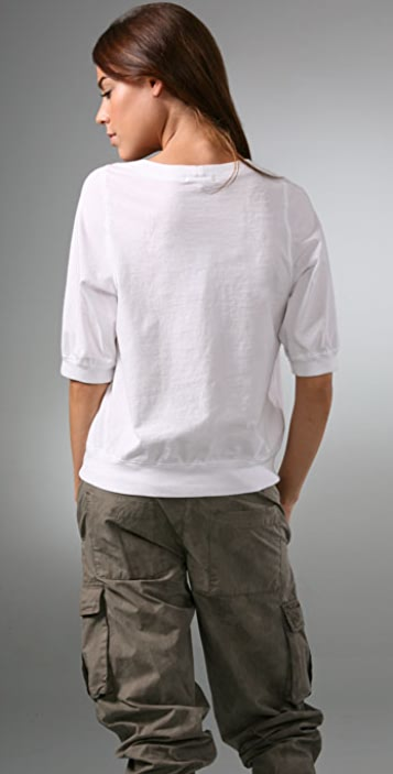James Perse Shifted Raglan Tee
