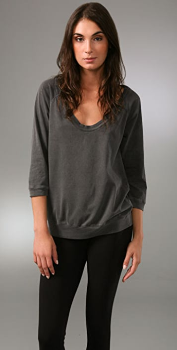 James Perse 3/4 Sleeve Raglan Tee