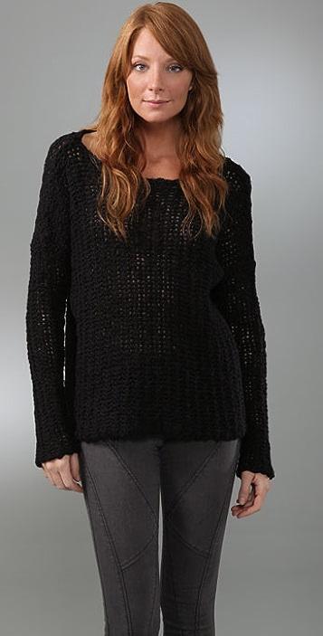 James Perse Open Stitch Boxy Sweater