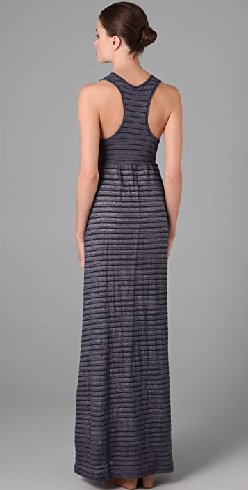 James Perse Striped Long Tank Dress