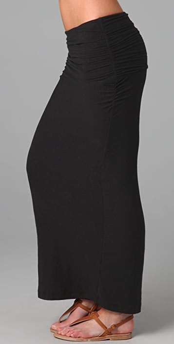 James Perse Ruched Long Skirt