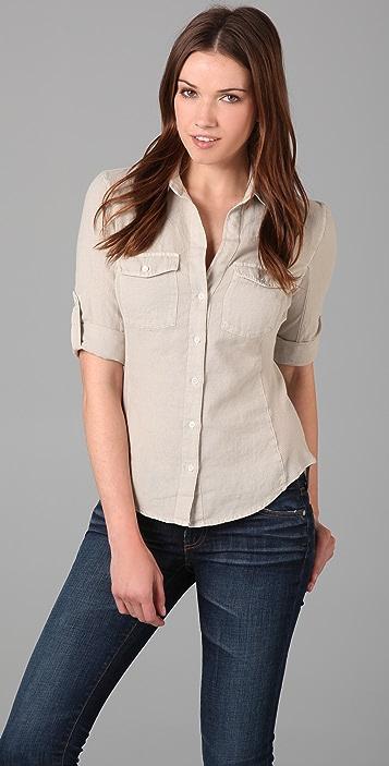 James Perse Contrast Panel Shirt