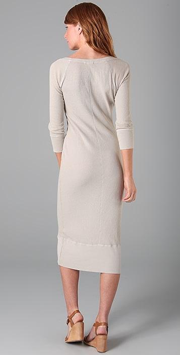 James Perse 3/4 Sleeve Surplus Dress