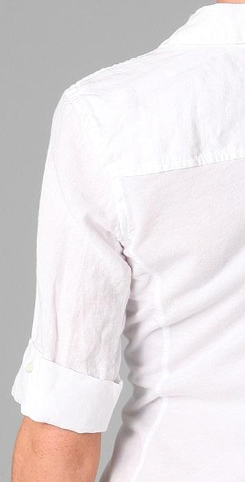James Perse Classic Panel Linen Blouse