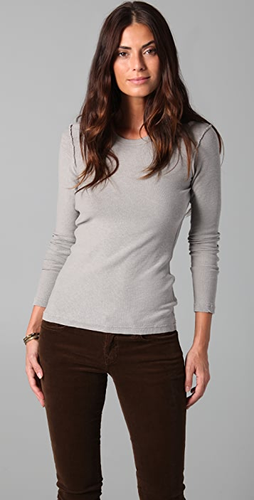 James Perse Inside Out Long Sleeve Sweater