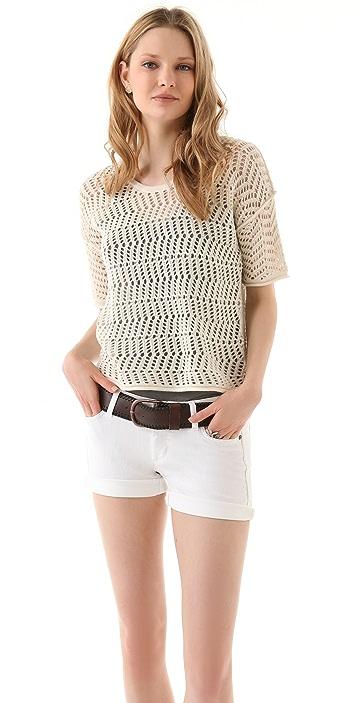 James Perse Cobweb Stitch Sweater