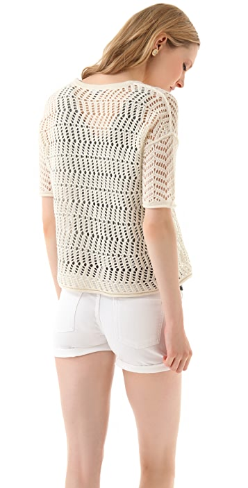James Perse Cobweb Stitch Sweater