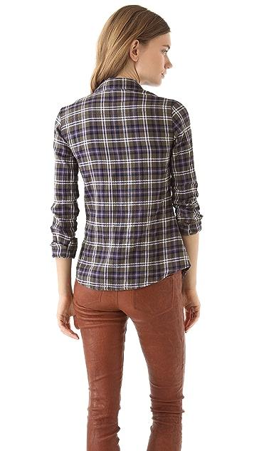 James Perse Tomboy Plaid Shirt