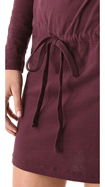 James Perse Long Sleeve Cowl Dress