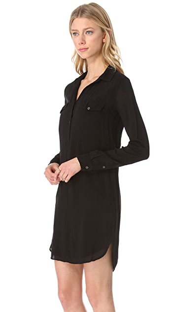 James Perse Easy Henley Shirtdress