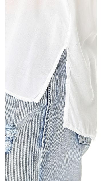 James Perse Contrast Stitch Shirt