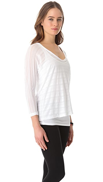 James Perse Shadow Stripe Dolman Top