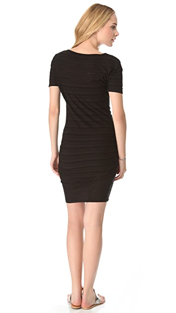 James Perse Gradient Stripe Mini Dress
