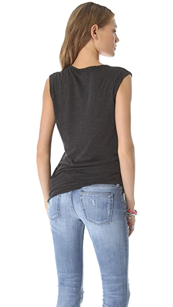 James Perse Asymmetrical Shell Top