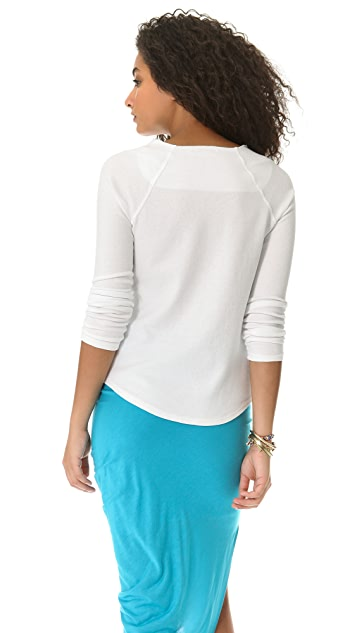 James Perse Tug Neck Raglan Sweatshirt