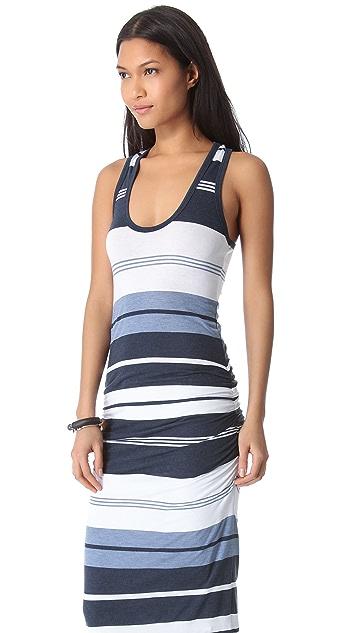 James Perse Pacific Stripe Racer Dress