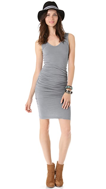 James Perse Skinny Ruched Tank Dress