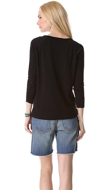 James Perse Vintage Raglan Pullover