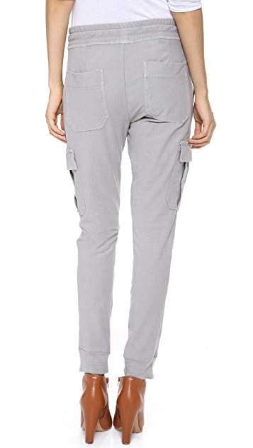 James Perse Knit Twill Cargo Pants
