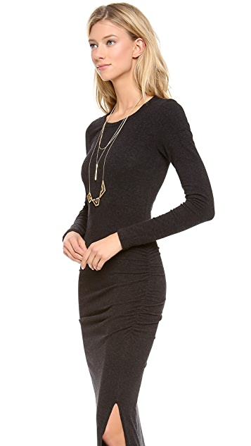 James Perse Long Sleeve Split Dress