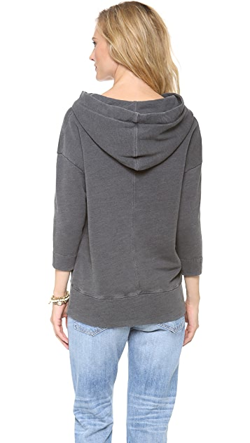 James Perse Oversized Cotton Hoodie