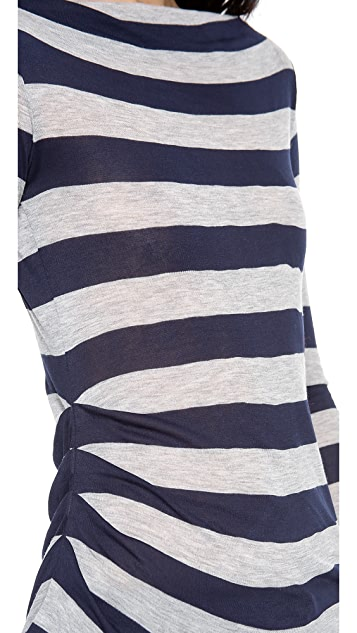 James Perse Tucked Stripe Top