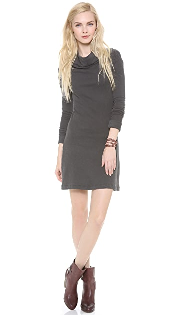 James Perse Funnel Neck A Line Raglan Dress