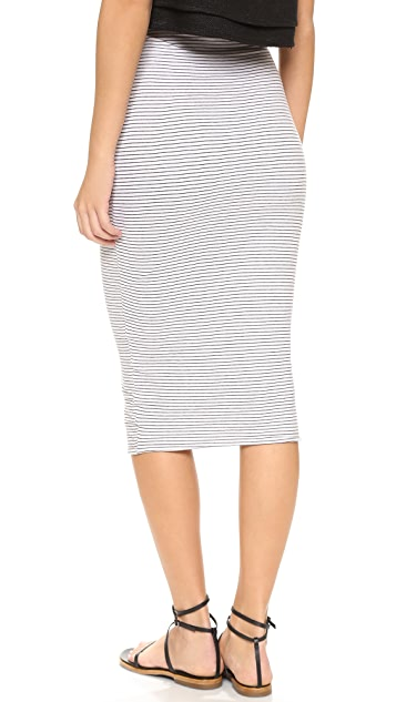 James Perse Tie Front Stripe Skirt