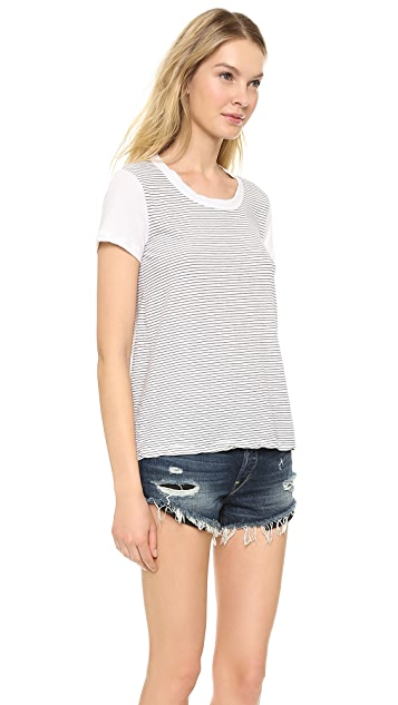James Perse Stripe Boy Tee