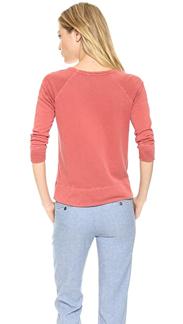 James Perse Vintage Cotton Raglan Pullover
