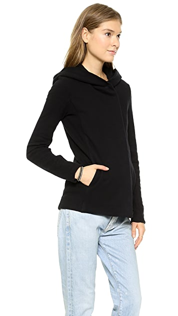 James Perse Hooded Fleece Zip Up Jacket