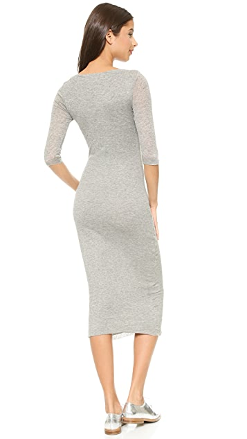 James Perse Rib Boat Neck Dress