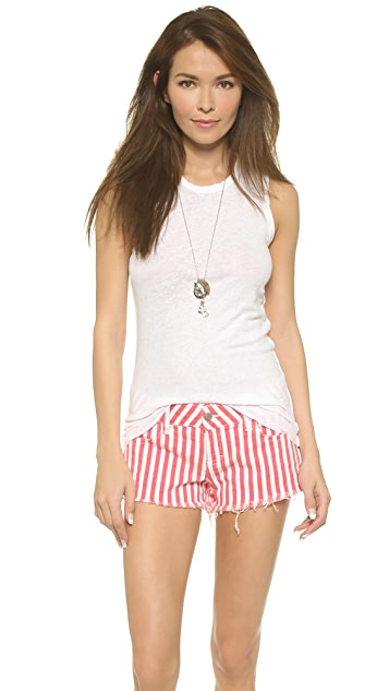 James Perse Inside Out Tomboy Tank Top