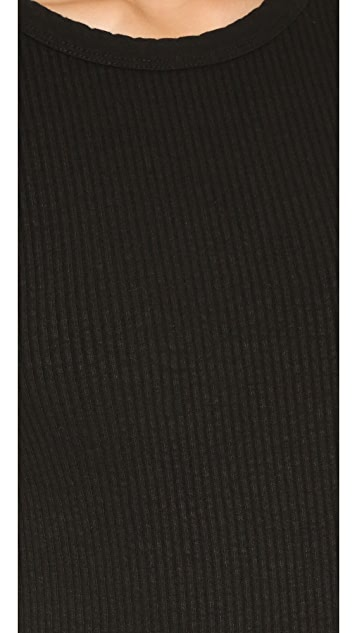 James Perse Ribbed Cap Sleeve Dress