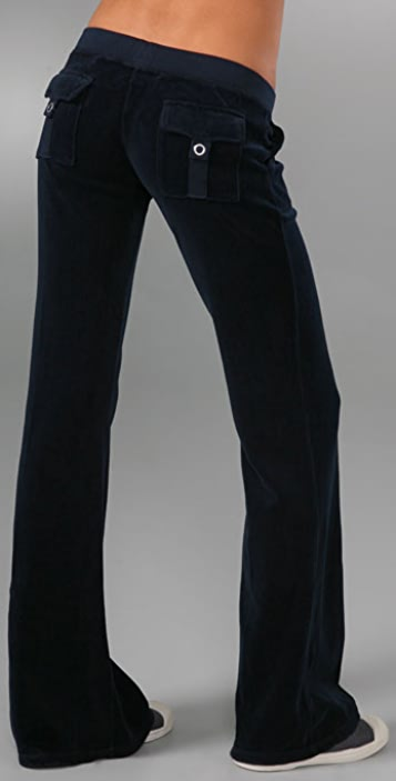 Juicy Couture Velour Snap Pocket Pant