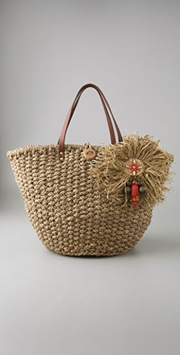 Juicy Couture Large Straw Tote