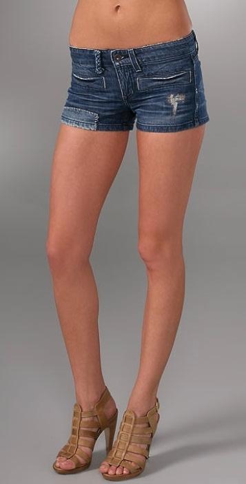 Juicy Couture Riley Repair Denim Shorts