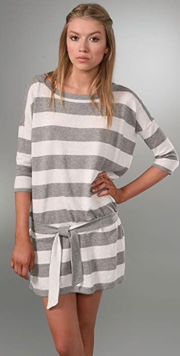 Juicy Couture Striped Dolman Sleeve Dress