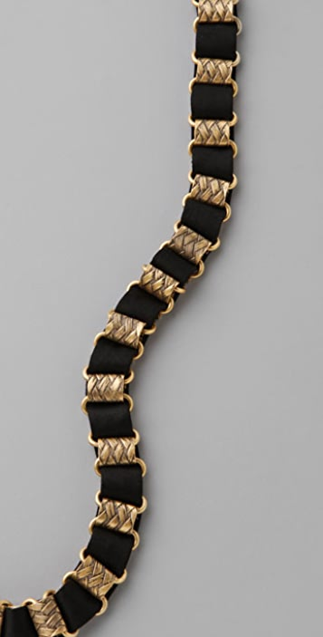 Juicy Couture Silk Woven Chain Necklace