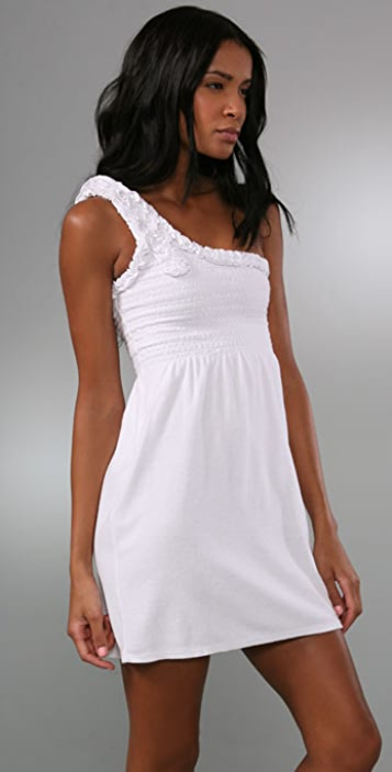 Juicy Couture Terry Smocked Asymmetrical Dress