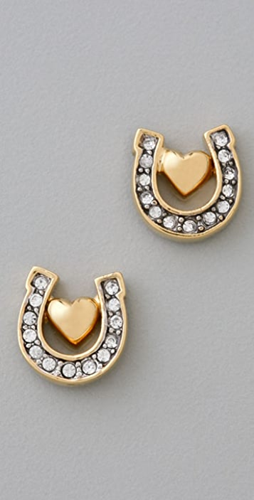 Juicy Couture Icons Horseshoe Stud Earrings